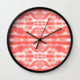 Tie Dye Twos Corals Wall Clock