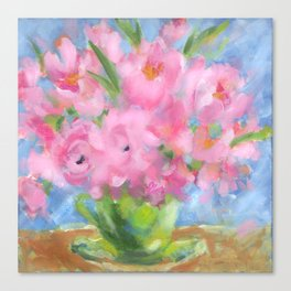 Teacup Pinks Canvas Print