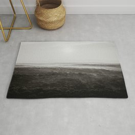 Kentucky from a Hot Air Balloon - Black and White Rug