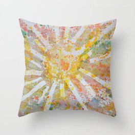 Sun Splatter Throw Pillow
