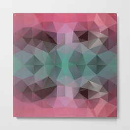 Triangles design in soft colors Metal Print