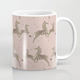 Royal Tenenbaums Zebra Wallpaper - Dusty Pink Coffee Mug