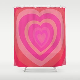 Love Me Like You Do - pink red Shower Curtain