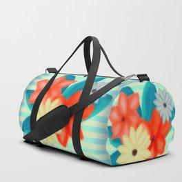 Painted Floral Arrangement Duffle Bag