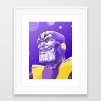 thanos Framed Art Prints featuring Thanos by Adam Reck