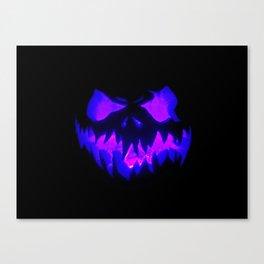 Blue Demon Nightmare Canvas Print
