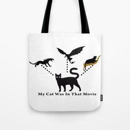 My Black Cat's Acting Career Tote Bag