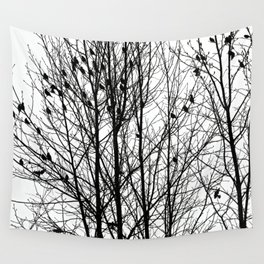 Winter Birds Wall Tapestry