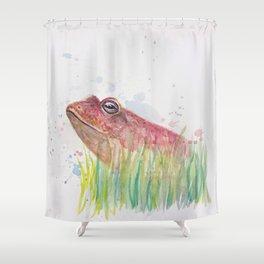 Handsome Frog Shower Curtain