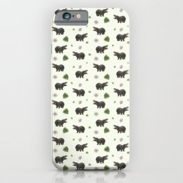 Hippos and Flowers iPhone Case