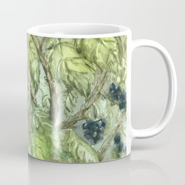 Robins in Blackberry Bush Coffee Mug