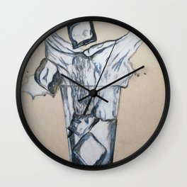Ice cube's in a glass of water Wall Clock