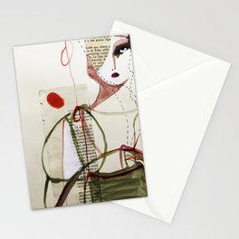 Sepia Girl Stationery Cards