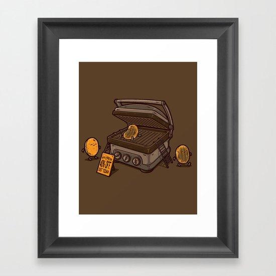 PANCAKES!! Framed Art Print