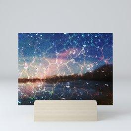 Abstract : Sparkling rain Mini Art Print