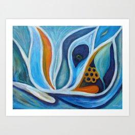 Blue Growth Art Print
