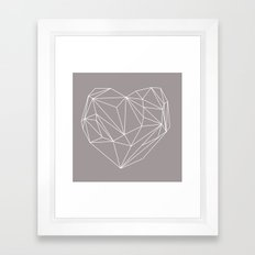 Heart Graphic Framed Art Print