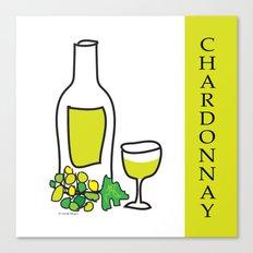 Chardonnay Wine Canvas Print