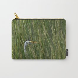 Egret in Tall Reeds Carry-All Pouch