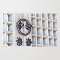 korean Area & Throw Rugs featuring Korean Palace Doors by Jennifer Stinson