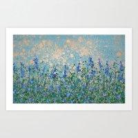 bluebells golden light Art Print