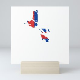Distressed Faroe Islands Map Mini Art Print