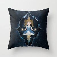starry night Throw Pillows featuring Starry by NuriaDrella