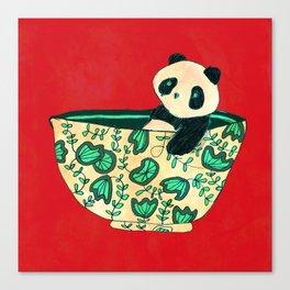 Dinnerware sets - panda in a bowl Canvas Print