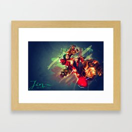 Jinx the loose cannon  Framed Art Print