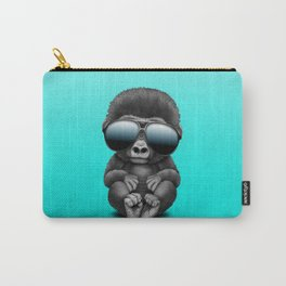 Cute Baby Gorilla Wearing Sunglasses Carry-All Pouch