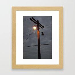 Telephone Lines Framed Art Print