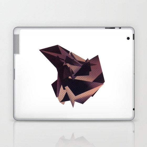 3D purple flying object Laptop & iPad Skin