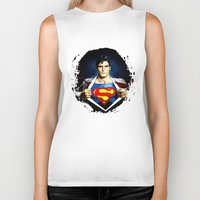 superman Biker Tanks featuring Superman by DavinciArt