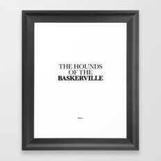 THE HOUNDS OF THE BASKERVILLE Framed Art Print
