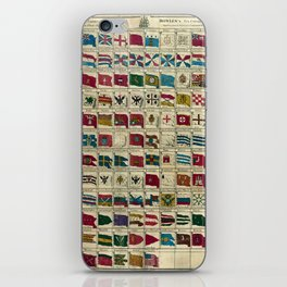 Vintage Naval Flags of The World Illustration iPhone Skin