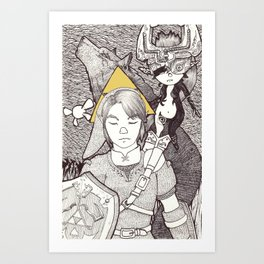 twilight warriors Art Print