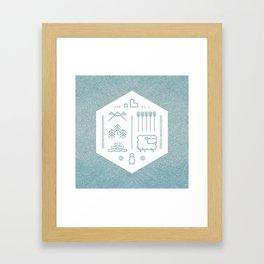 Settlers Line Art Framed Art Print
