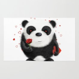 Valentine's Panda by dana alfonso Rug