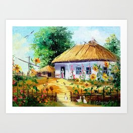 Ukrainian village Art Print