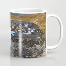 ICELAND TRAVEL: Blue Waterfall Coffee Mug