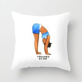 Forward Bend Throw Pillow