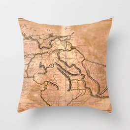 Map Of Caracas 1814 Throw Pillow