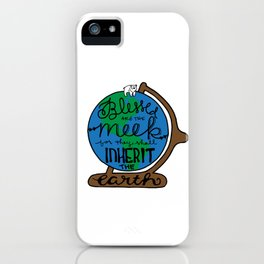 Blessed are the Meek iPhone Case