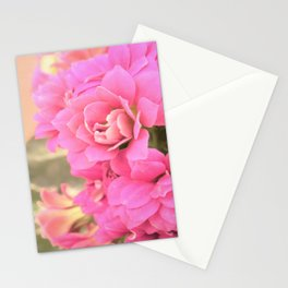 peach colored flower Stationery Cards
