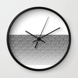 BQ Fade 2 - white Wall Clock