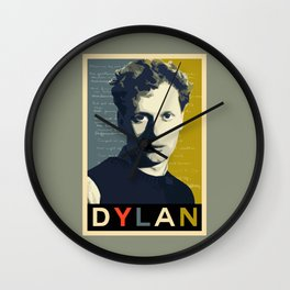 Dylan Thomas Wall Clock