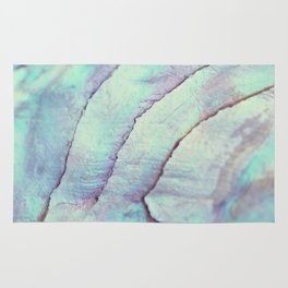 IRIDISCENT SEASHELL MINT by Monika Strigel Rug