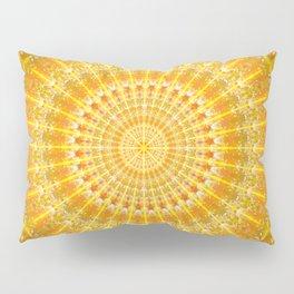 Golden Disc of Secrets Mandala Pillow Sham