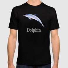D is for Dolphin Mens Fitted Tee MEDIUM Black