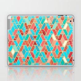Melon and Aqua Geometric Tile Pattern Laptop & iPad Skin